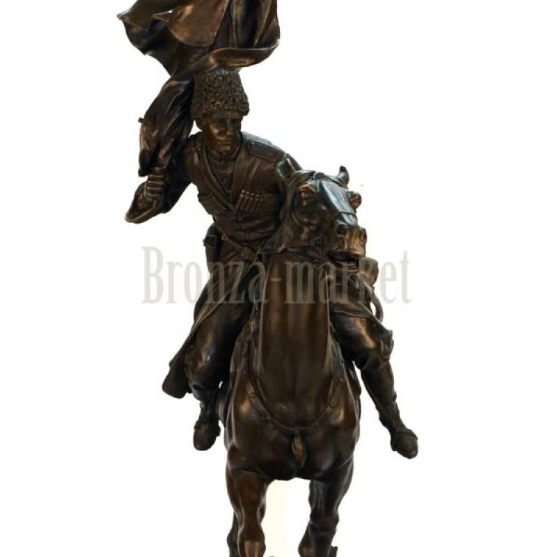 Скульптура Казак со знаменем