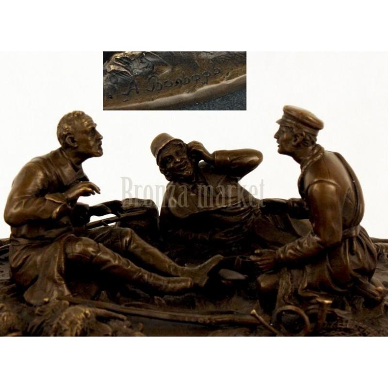 Скульптура Охотники на привале